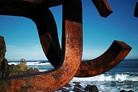 Comb of the winds, Peine del Viento sculpture by Eduardo Chillida, San Sebastian, Donostia, Guipuzcoa