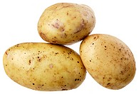 A group of three potatoes