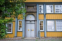 Entrance to manor in Zellerfeld, Clausthal_Zellerfeld, Harz, Lower Saxony, Germany