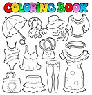 Coloring book clothes theme 2 _ picture illustration.