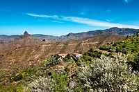 Finca at the foot of Roque Bentayga, Gran Canaria, Canary Islands, Spain