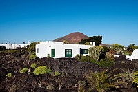 Exterior view of the museum Fundacion Cesar Manrique, Tahiche, Lanzarote, Canary Islands, Spain, Europe