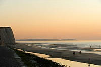 Beach at the Cap Blanc_Nez at sunset, Cap Blanc_Nez, Opal coast, Boulogne_sur_Mer, France, Europe