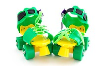 funny colored roller skates