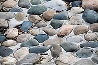 Dry gray stones