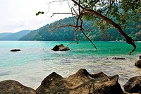 Surin island national park in Thailand