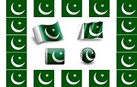flag of Pakistan.icon set. flags frame.