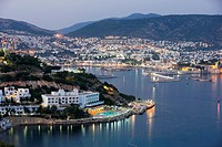 Bodrum harbour at night  Bodrum, Mugla province, Turkey