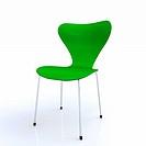 Designer Stuhl grün silber