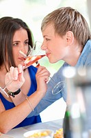 Women having champagne together