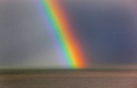 UK, Norfolk, Weybourne, Rainbow