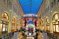 Interior of GUM department store  Moscow, Russia