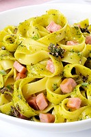 ham and aromatic herbs tagliatelle