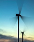 England, Northumberland, Lynemouth  Wind turbines / wind farm located near Ashington, owned and installation started by ScottishPower Renewables in 20...