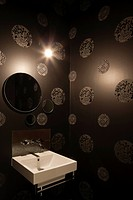St Kilda Residence, Melbourne, Australia. Architect: Annie Lai Architects, 2011. Washroom detail.