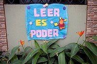 Ecuador, Babahoyo, school, 'reading is power'