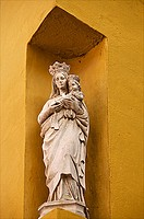 Virgin and Child Statue, outside, Seville, Andalusia, Spain