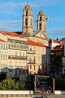 Co-Cathedral, Old Town, Vigo, Pontevedra, Galicia, Spain.