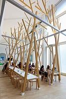 Cafeteria, Cidade da Cultura de Galicia, City of Culture of Galicia, designed by Peter Eisenman, Santiago de Compostela, A Coruña province, Galicia, S...