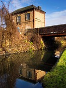 England, West Midlands, Stourbridge Canal  Bowen's Bridge on the Stourbridge Canal near Brierley Hill in the Black Country
