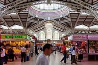 Spain, Valencia, Mercado Central, Central market.