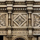 Ornate Facade Of A Building, Chicago Illinois United States Of America