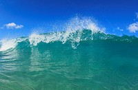 Fisheye View Of Wave Breaks At Hapuna Beach, Big Island Hawaii United States Of America