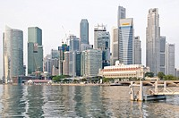 Skyline of the financial district, Singapore