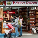 Customers At A Shop Selling Turkish Delight, Istanbul Turkey