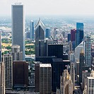 High Angle View Of Skyscrapers, Chicago Illinois United States Of America