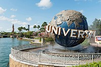 The Globe And Sign For Universal Studios, Orlando Florida United States Of America