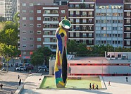 Parc Joan Miro And The Miro Sculpture Dona I Ocell Woman And Bird, Barcelona Spain