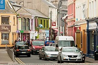 Cars Driving On The Street In A Busy Urban Area, Ireland