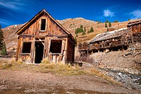 An old mill in a state of destruction at 12,000 ft.