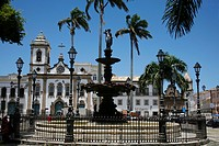 Terreiro de Jesus Square and Igreja Sao Domingos in the background, Salvador Salvador de Bahia, Bahia, Brazil, South America