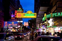 Nathan Road at night, Tsimshatsui, Kowloon, Hong Kong