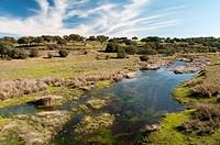 Gibranzos river, Contreras Trujillo, Caceres-province, Spain,