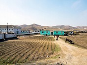 Countryside between Pyongyang and Kaesong, Democratic People´s Republic of Korea DPRK, North Korea, Asia