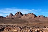 Das Hoggargebirige in der Sahara