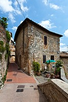 Building architecture in San Gimignano, Tuscany, Italy