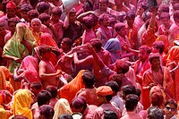 Holi celebration in Dauji temple, Dauji, Uttar Pradesh, India, Asia