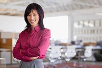 Portrait of pretty middle_aged Asian businesswoman