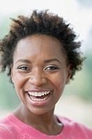Portrait of pretty African American mid_adult woman