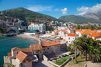 Walls of the Old Town, Budva, Montenegro, Europe