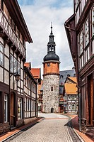 Seigerturm, the tower was part of the city wall from the 13th Century, Stolberg / Harz, municipality Suedharz, Mansfeld-Suedharz, Saxony-Anhalt, Germa...