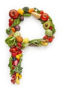 Letter P in produce