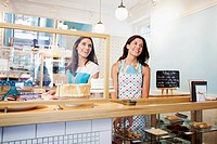 Business owners in cafe