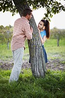 Orchard, Young couple, in love, Croatia,