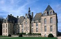 Facade of Chateau de Saint-Loup, Saint-Loup-Lamaire, Poitou-Charentes. France, 17th century.