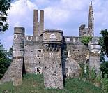 View of Chateau du Plessis-Mace, Pays de la Loire. France, 12th century.